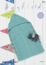 Hayfield Baby Chunky - 4896 Baby Sleeping Bag Knitting Pattern